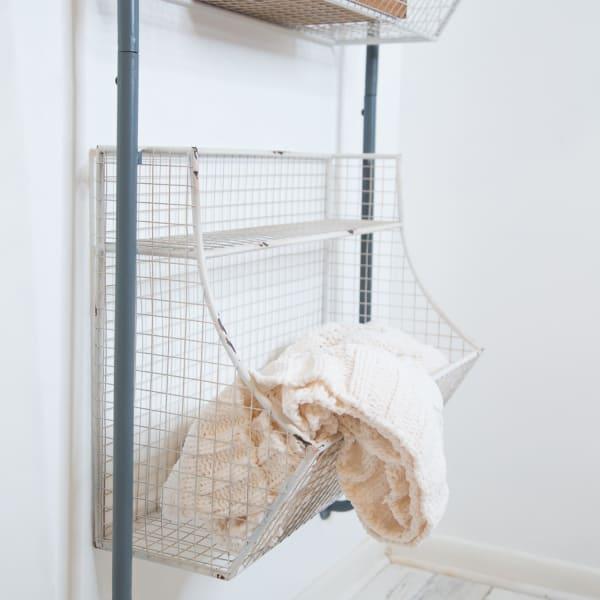 Wire Basket Wall Shelf