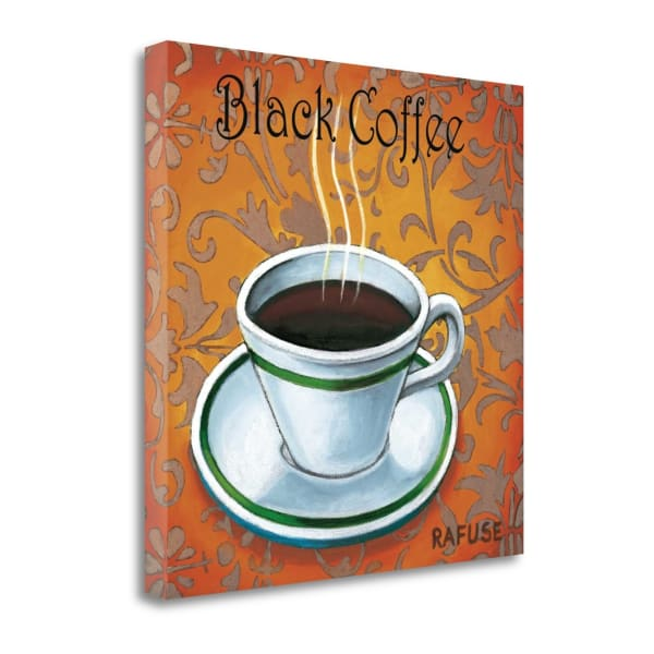 Fine Art Giclee Print on Gallery Wrap Canvas 19 In. x 19 In. Black Coffee By Will Rafuse Multi Color