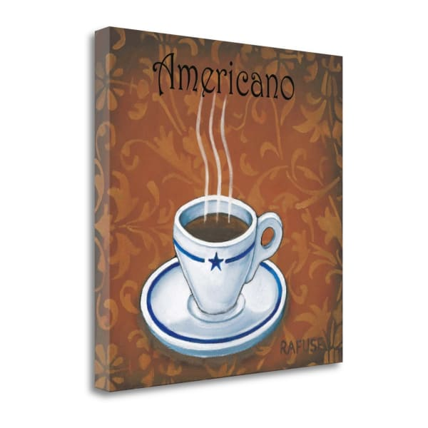 Fine Art Giclee Print on Gallery Wrap Canvas 19 In. x 19 In. Americano By Will Rafuse Multi Color