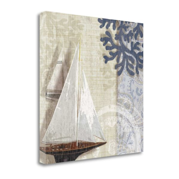 Fine Art Giclee Print on Gallery Wrap Canvas 20 In. x 20 In. Sailing Adventure I By Tandi Venter Multi Color