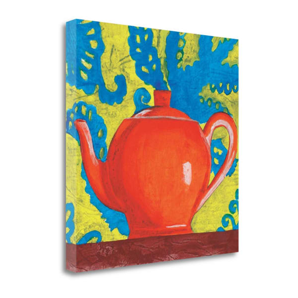Giclee Print on Gallery Wrap Canvas 20 In. x 20 In. Tempest In A Teapot II By Liz Jardine Multi Color