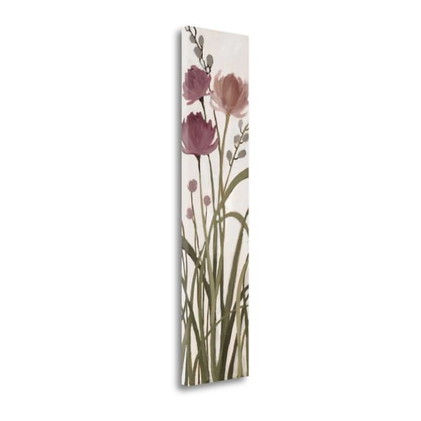 Fine Art Giclee Print on Gallery Wrap Canvas 12 In. x 47 In. Meadows II By Maria Multi Color