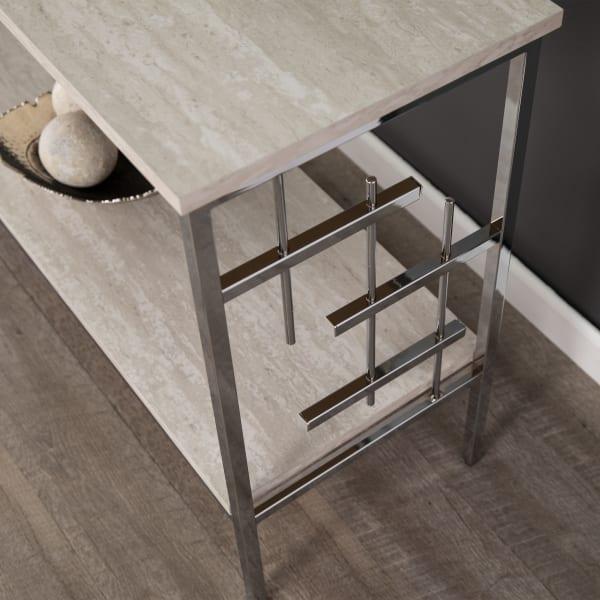 Bernadette Faux Marble Console Table