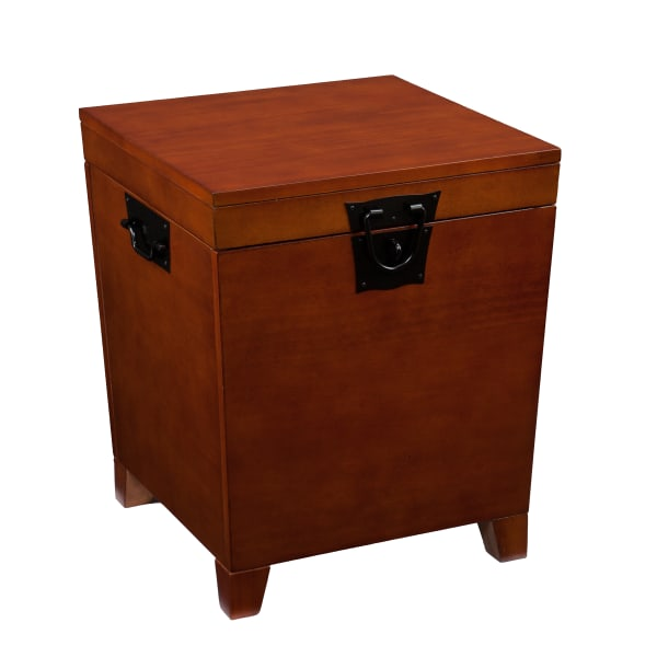 Odette Trunk End Table - Mission Oak