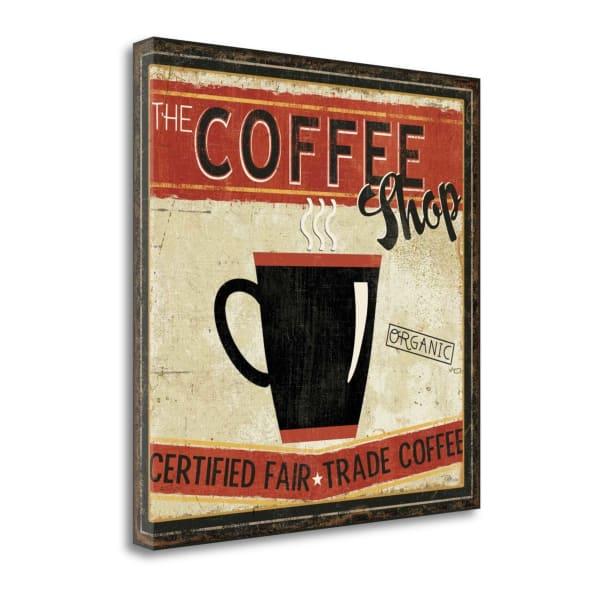 Fine Art Giclee Print on Gallery Wrap Canvas 20 In. x 20 In. Coffee Roasters III By Pela Studio Multi Color