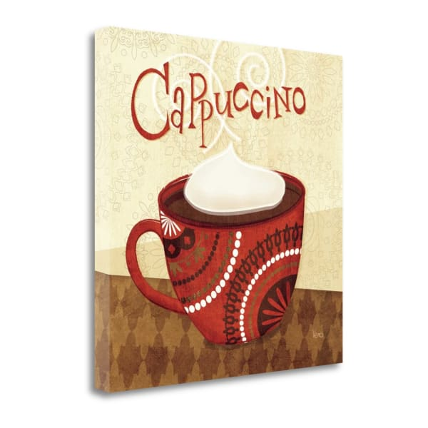 Fine Art Giclee Print on Gallery Wrap Canvas 18 In. x 18 In. Cup Of Joe II By Veronique Charron Multi Color