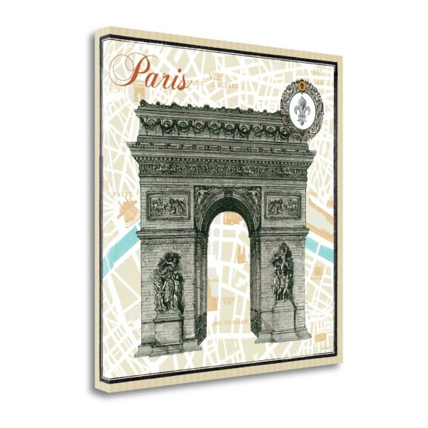 Giclee Print on Gallery Wrap Canvas 20 In. x 20 In. Monuments Des Paris Arc By Sue Schlabach Multi Color