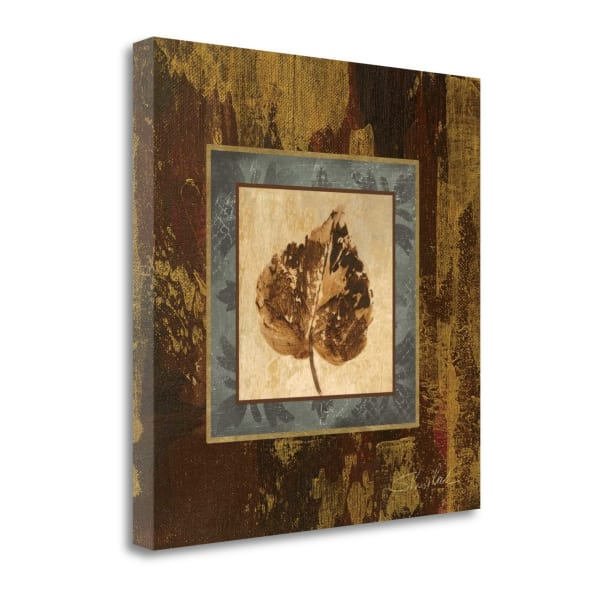 Giclee Print on Gallery Wrap Canvas 20 In. x 20 In. Autumn Leaf Square I By Silvia Vassileva Multi Color