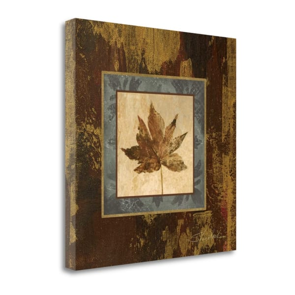 Giclee Print on Gallery Wrap Canvas 20 In. x 20 In. Autumn Leaf Square IV By Silvia Vassileva Multi Color