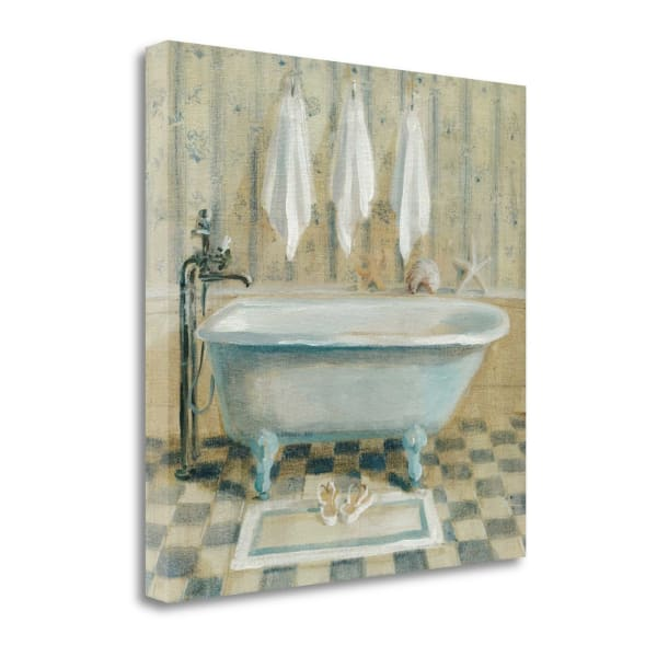 Fine Art Giclee Print on Gallery Wrap Canvas 20 In. x 20 In. Victorian Bath IV By Danhui Nai Multi Color