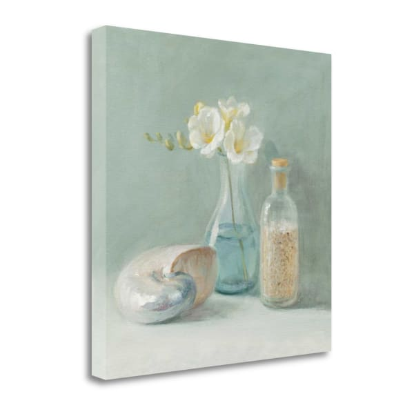 Fine Art Giclee Print on Gallery Wrap Canvas 20 In. x 20 In. Freesia Spa By Danhui Nai Multi Color