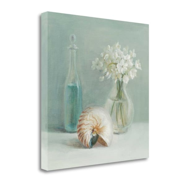 Fine Art Giclee Print on Gallery Wrap Canvas 20 In. x 20 In. White Flower Spa By Danhui Nai Multi Color