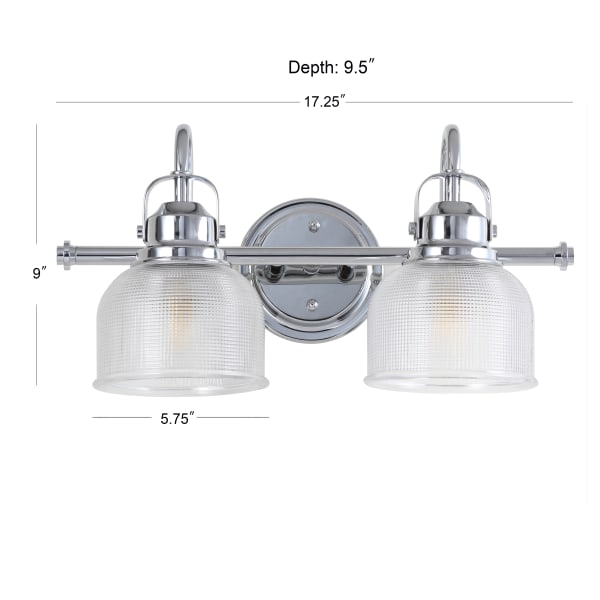 2-Bulb Chrome LED Vanity Light