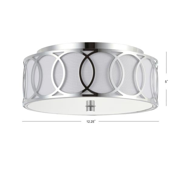 2-Light Chrome LED Ceiling Light