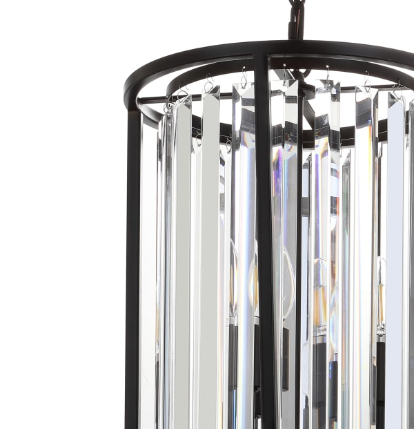 Metal/Crystal LED Pendant, Oil Rubbed Bronze