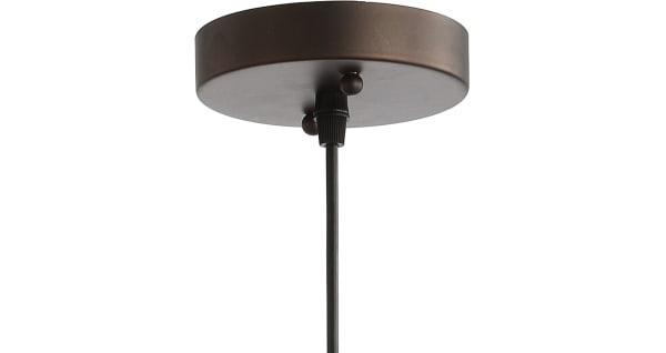Farmhouse Adjustable Industrial Metal LED Pendant, Oil Rubbed Bronze