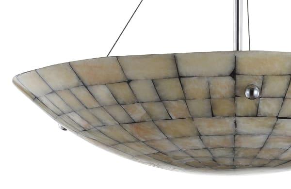 Marble/Metal LED Pendant, Cream