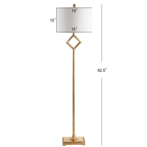 Metal Floor Lamp, Gold Leaf