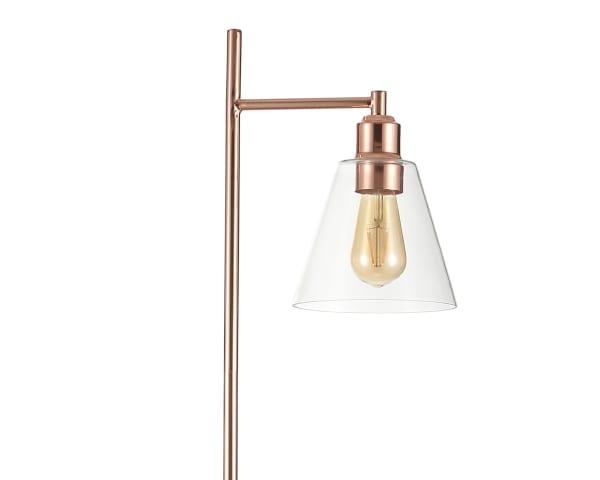 Modern Glam Metal/Marble Floor Lamp, Copper