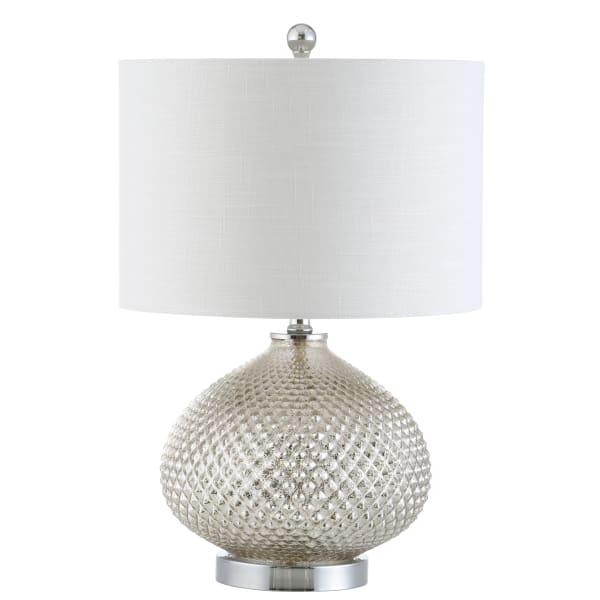 Glass Table Lamp, Mercury Silver