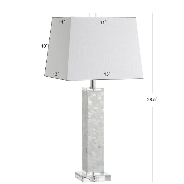 Seashell Table Lamp, White (Set of 2)