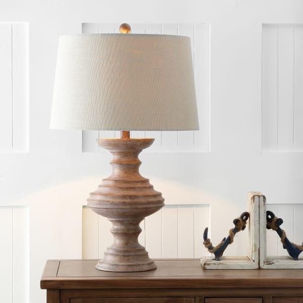 Resin Table Lamp, Brown