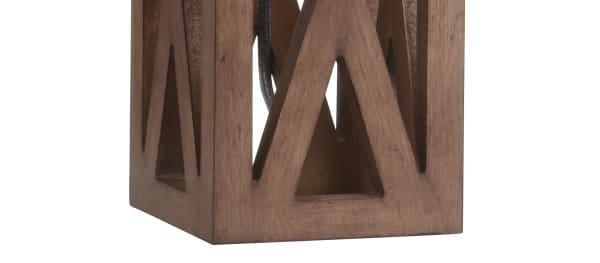 Wood Table Lamp, Brown