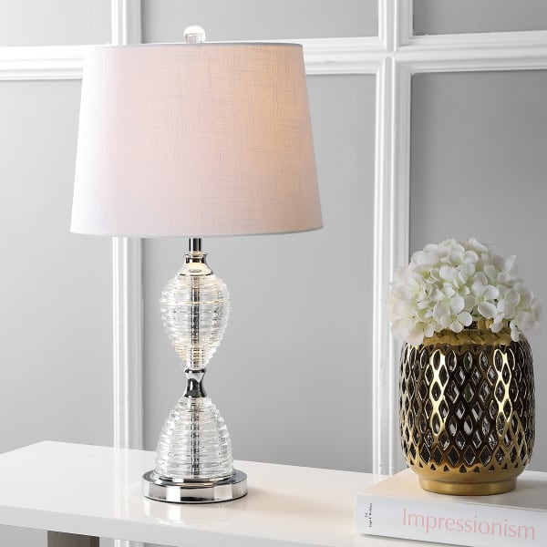 Crystal Table Lamp, Clear (Set of 2)