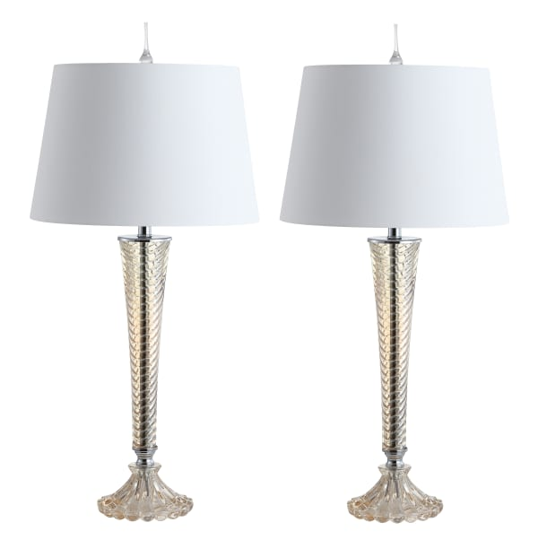 Glass Table Lamp, Champagne (Set of 2)