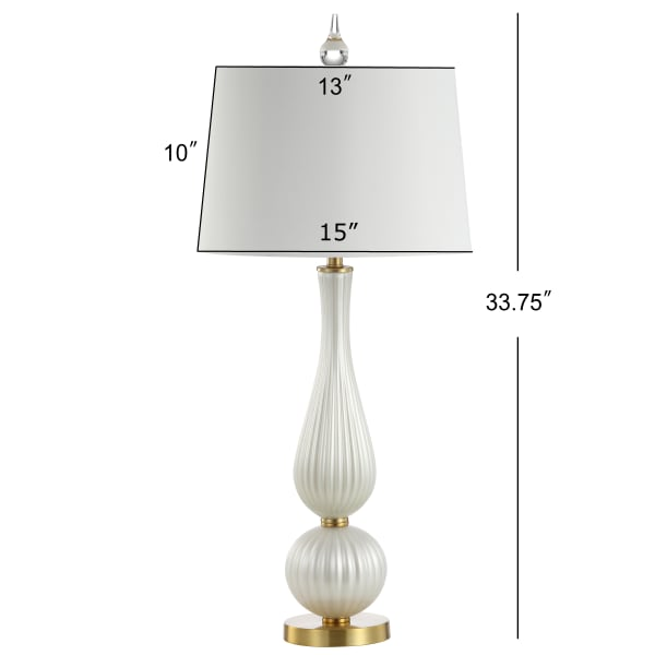 Glass Table Lamp, White