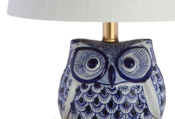 Ceramic Mini Table Lamp, Blue/White (Set of 2)