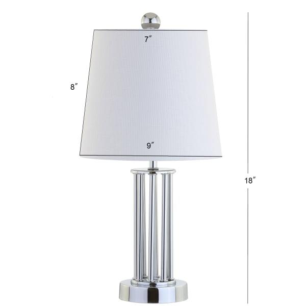 Metal Mini Table Lamp, Chrome