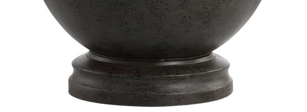 Resin Table Lamp, Dark Gray