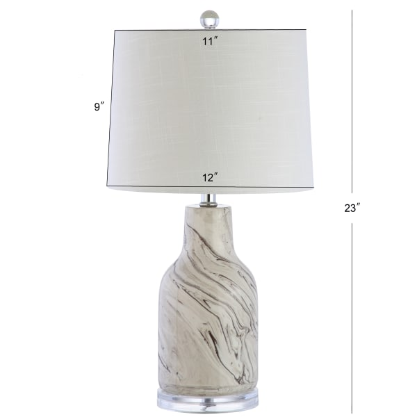 Ceramic Table Lamp, Gray/White