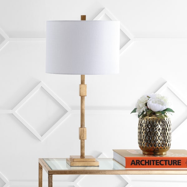 Windsor Metal Table Lamp, Gold Leaf