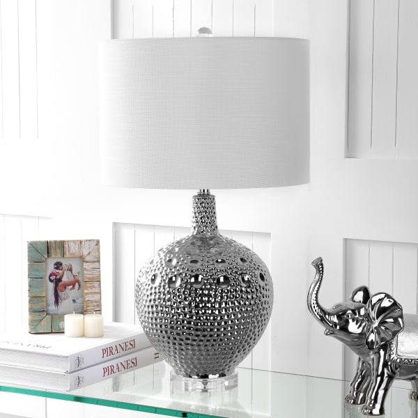 Ceramic Table Lamp, Chrome
