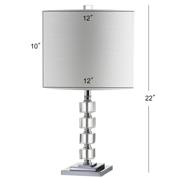 Crystal/Metal Table Lamp, Clear (Set of 2)