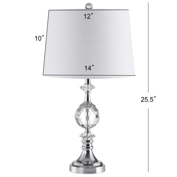 Crystal/Metal Table Lamp, Clear/Chrome