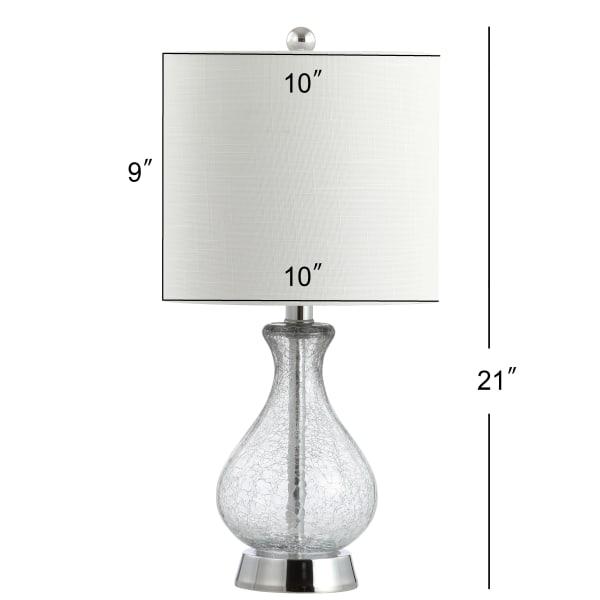 Metal & Bubble Glass Table Lamp, Chrome