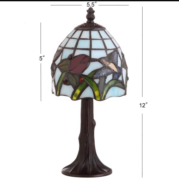 Hummingbird Tiffany-Style Table Lamp, Bronze