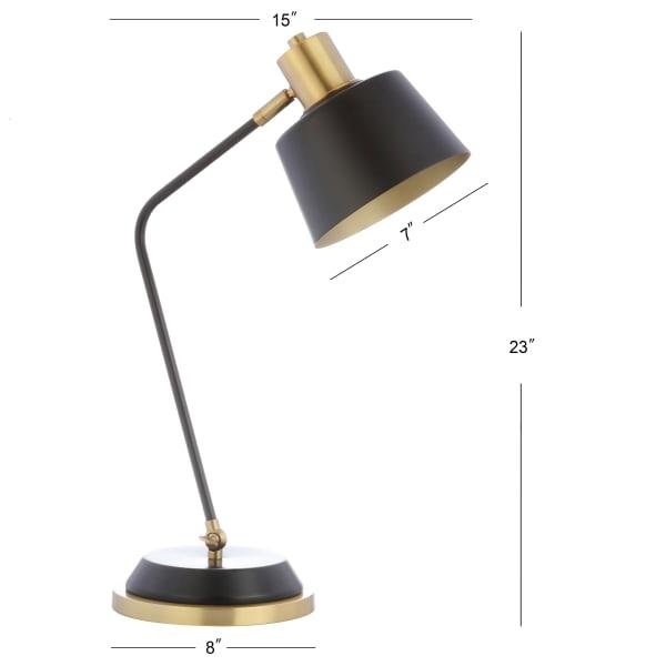 Metal Task Lamp, Black/Brass Gold
