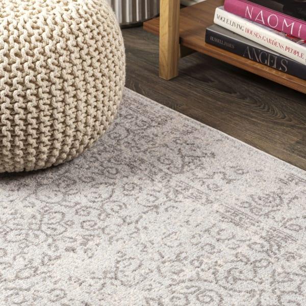Filigree Modern Gray Gray/Dark Gray 5' x 8' Area Rug