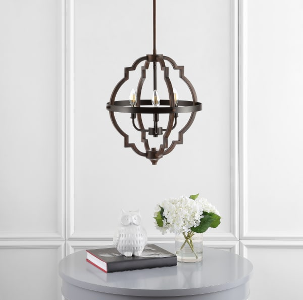 Light Adjustable Iron Rustic Industrial LED Pendant, Oil Rubbed Bronze