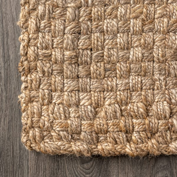 Hand Woven Boucle Chunky Jute Natural 5' x 8' Area Rug