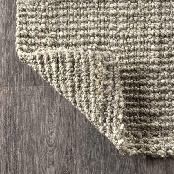 Hand Woven Chunky Jute Gray 4' x 8' Area Rug