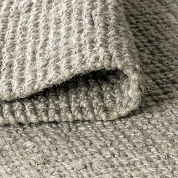 Hand Woven Chunky Jute Gray Area Rug