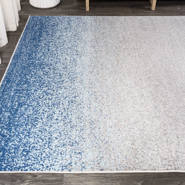 Shore Modern Gradient Blue/Cream 3' x 5' Area Rug
