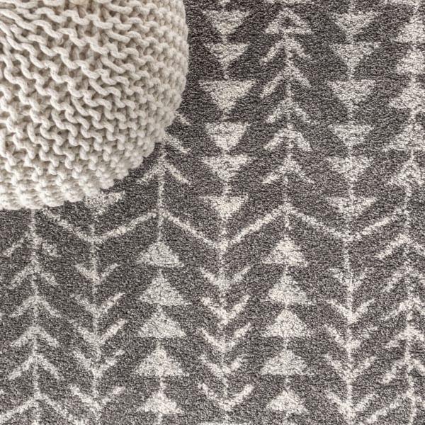 Moroccan Geometric Grey/Cream 2.25' x 8'Runner Rug
