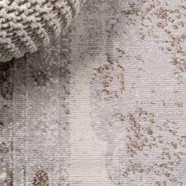 Cottage Medallion Brown/Cream 3' x 5' Area Rug