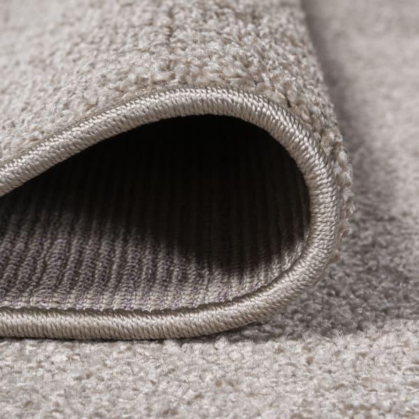 Haze Solid Low-Pile Beige 3' x 5' Area Rug